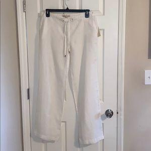 Michael Kors White Linen Pants, NWT